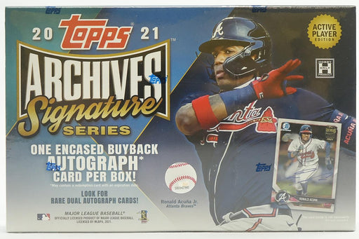 2021 Topps Archives Signature Series Baseball Active Player Edition Hobby - Pastime Sports & Games
