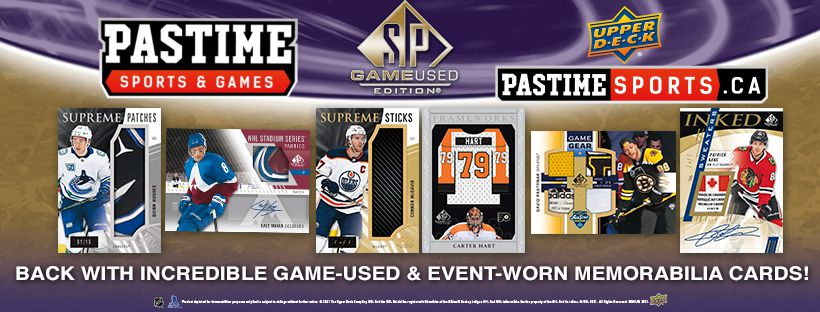 2020/21 Upper Deck SP Game Used NHL Hockey Pack/Box PRE ORDER - Pastime Sports & Games