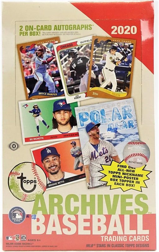 2020 Topps Archives Baseball Hobby - Pastime Sports & Games