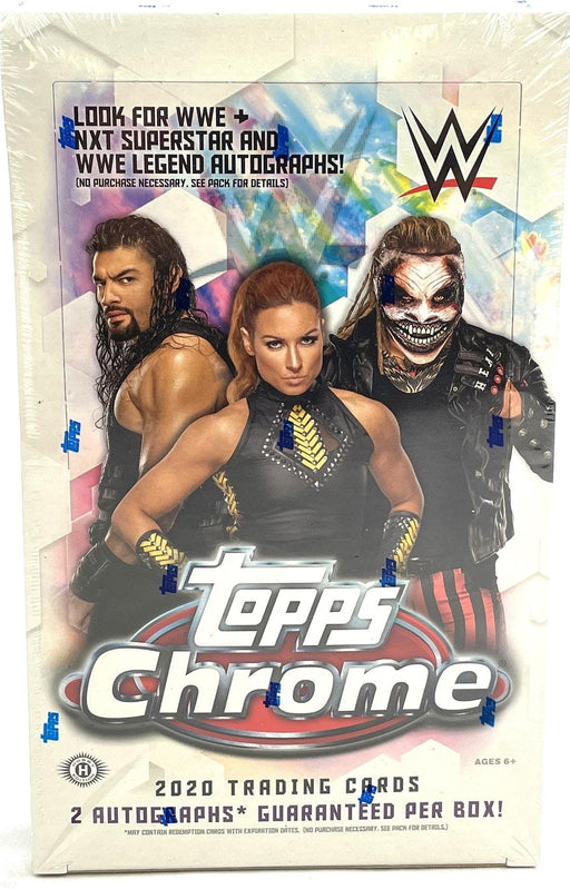 2020 WWE Topps Chrome Hobby Box - Pastime Sports & Games