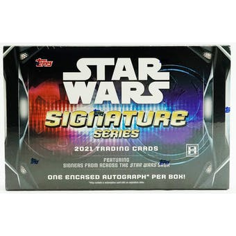 2021 Topps Star Wars Signature Series Hobby Box - Pastime Sports & Games