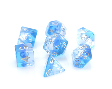 Die Hard Dice 7pc RPG Dice Set Ice Storm - Pastime Sports & Games
