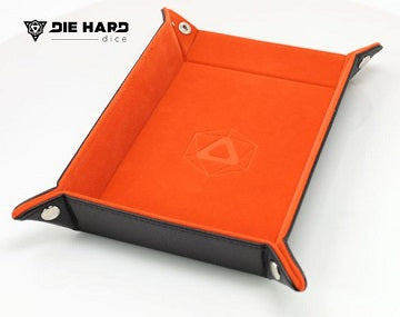 Die Hard Table Armor Folding Dice Tray Rectangle Tray w/Orange Velvet - Pastime Sports & Games