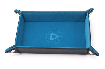 Die Hard Folding Dice Tray Rectangle Teal Velvet - Pastime Sports & Games