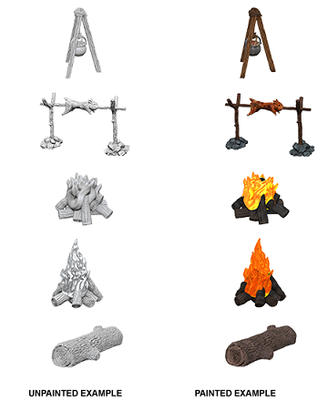 Wizkids Deep Cuts Minis Camp Fire & Sitting Log (73860) - Pastime Sports & Games