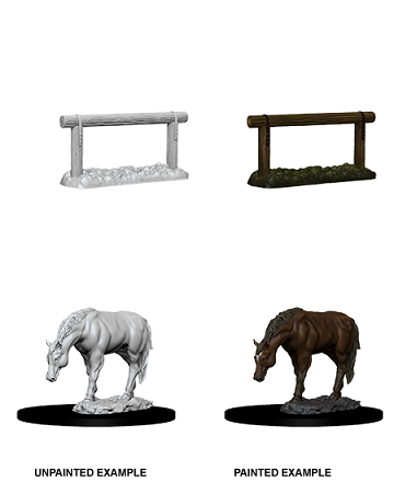 Wizkids Deep Cuts Minis Horse & Hitch (73862) - Pastime Sports & Games
