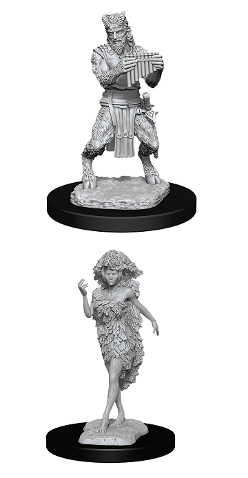 D&D Nolzur's Marvelous Miniatures Satyr and Dryad (90018) - Pastime Sports & Games
