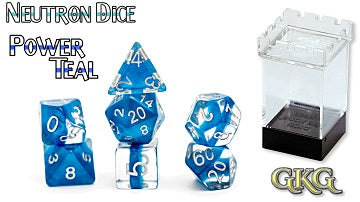 Gate Keeper Games 7pc RPG Dice Set Neutron Power Teal - Pastime Sports & Games