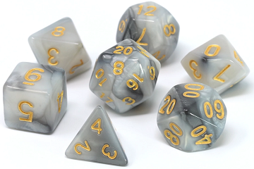 Die Hard Dice 7pc RPG Dice Set Quicksilver - Pastime Sports & Games