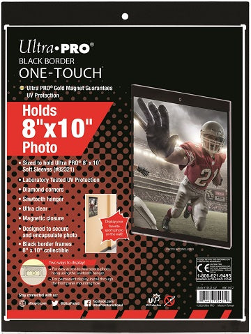 "Ultra Pro 8""x10"" Photo Black Border One-Touch - Pastime Sports & Games"