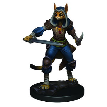 D&D Icons of the Realms Premium Miniatures Female Tabaxi Rogue - Pastime Sports & Games