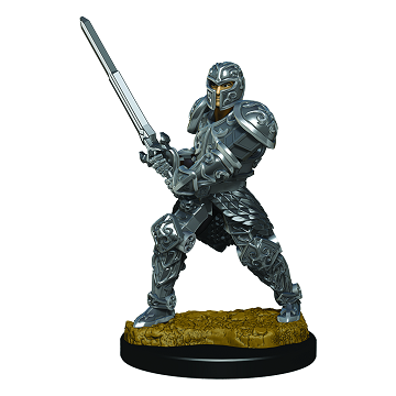 D&D Icons of the Realms Premium Miniature Male Human Fighter (93017) - Pastime Sports & Games