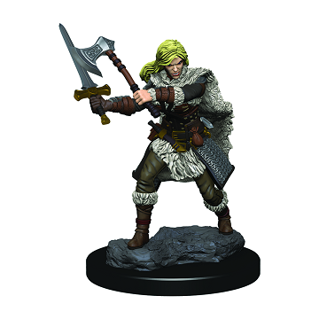 D&D Icons of the Realms Premium Miniatures Female Human Barbarian - Pastime Sports & Games