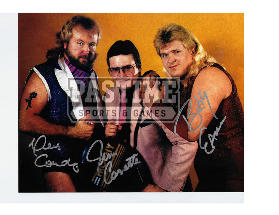 The Midnight Express - Condrey, Eaton, Corrette Photo Autographed Wrestling 8x10 - Pastime Sports & Games