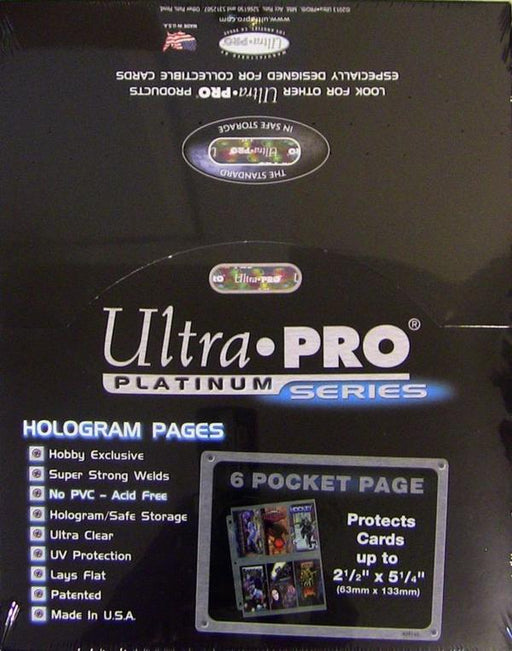 Ultra Pro Platinum Series 6 Pocket Pages - Pastime Sports & Games