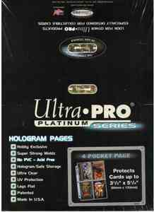 Ultra Pro Platinum Series 4 Pocket Pages - Pastime Sports & Games