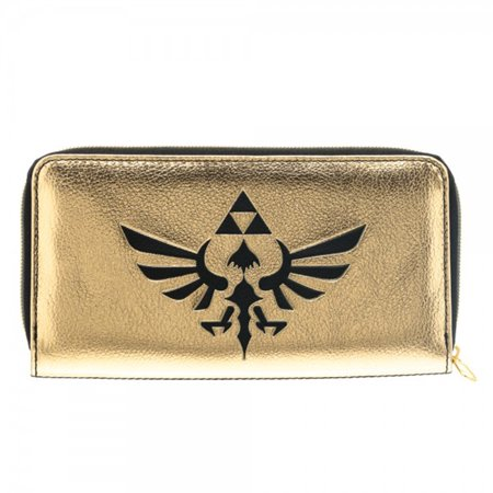Black Gold Zelda Zip Wallet