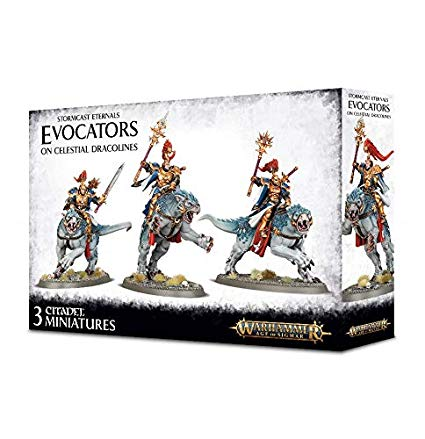 Warhammer Age Of Sigmar Stormcast Eternals Evocators On Celestial Dracolines (96-41) - Pastime Sports & Games