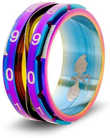 CritSuccess Life Counter Ring Rainbow - Pastime Sports & Games