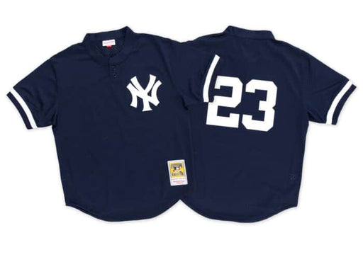 New York Yankees Don Mattingly Mitchell & Ness Navy Blue Batting Practice Baseball Jersey - Pastime Sports & Games
