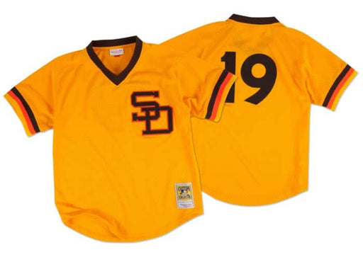 Tony Gwynn San Diego Padres Baseball Jersey (M&N Yellow) - Pastime Sports & Games