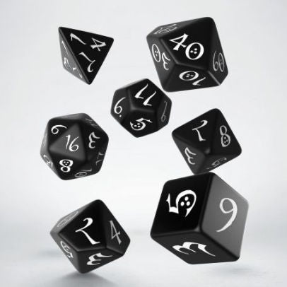Classic Dice Black & White 7Pc - Pastime Sports & Games