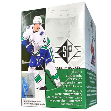 2018/19 SP Authentic Hockey Blaster Box - Pastime Sports & Games