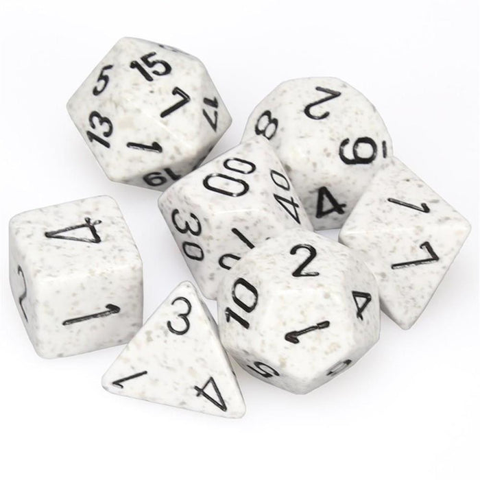 Chessex 7pc RPG Dice Set Speckled Arctic Camo CHX25311 - Pastime Sports & Games