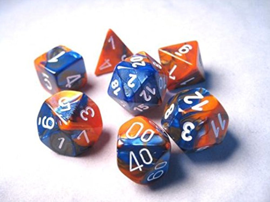Polyhedral Dice: Gemini Blue-Orange Chessex CHX 26452 - Pastime Sports & Games