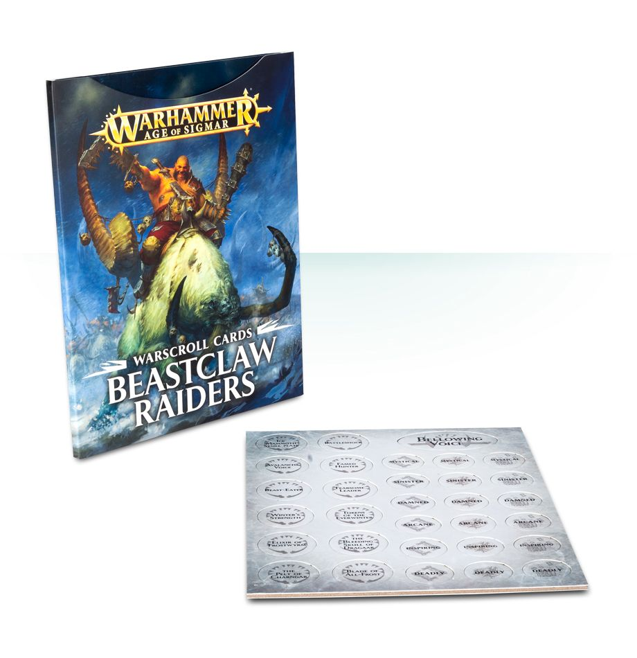 Warhammer Age Of Sigmar Warscroll Cards Beastclaw Raiders (95-02-60) - Pastime Sports & Games