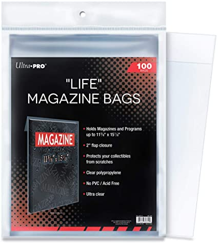 "Ultra Pro ""Life"" Magazine Bags - Pastime Sports & Games"