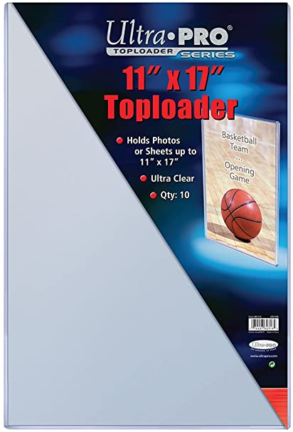 "Ultra Pro 11"" X 17"" Toploader - Pastime Sports & Games"