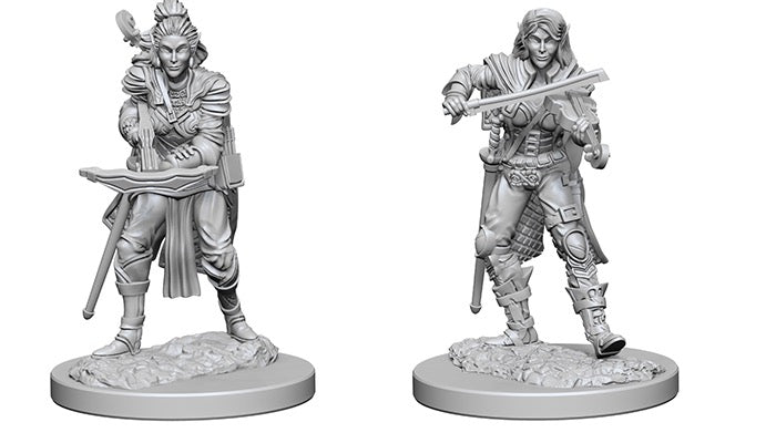 Pathfinder Battles Deep Cuts Unpainted Miniatures Elf Female Bard - Pastime Sports & Games