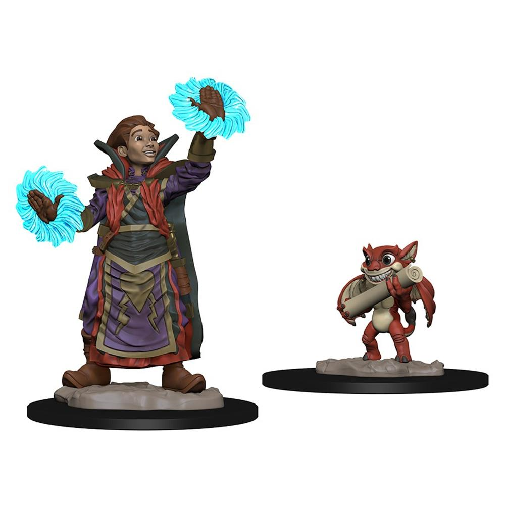 Wardlings: Boy Wizard & Imp FanHeads Wizkids Wardlings Rpg Figures, 73318