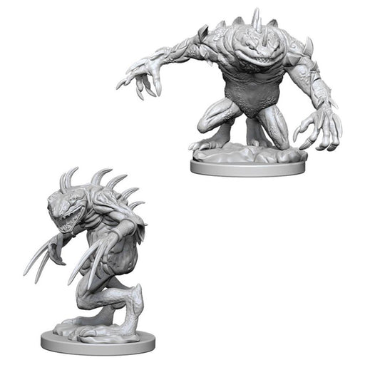 D&D Nolzur's Marvelous Miniatures Grey Slaad & Death Slaad (73353) - Pastime Sports & Games