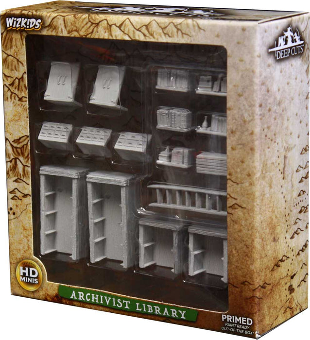 WizKids Deep Cuts Unpainted Minis: Archivist Library - Pastime Sports & Games