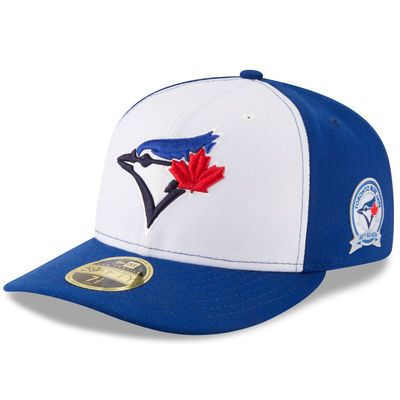 Toronto Blue Jays Baseball 40th Anniversary Patch 5950 Hat (Blue New Era) - Pastime Sports & Games