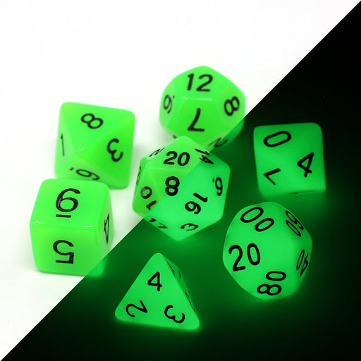 Die Hard Dice 7pc RPG Dice Set Glow in the Dark Toxic Ooze - Pastime Sports & Games
