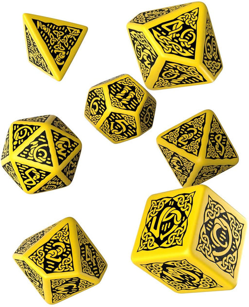 Celtic Dice Set Yellow W/Black