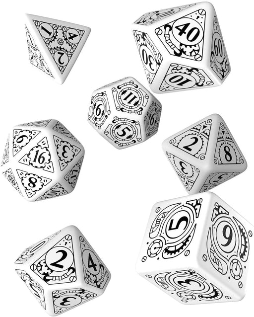 Steampunk Dice Set White W/Black