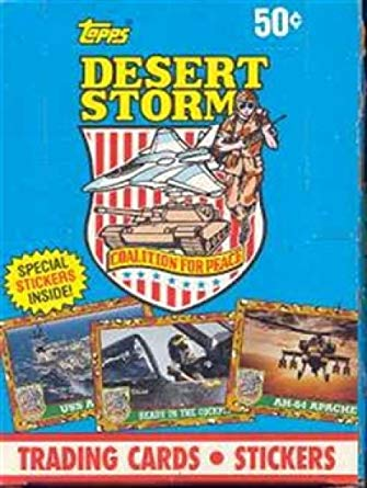 Topps Desert Storm Trading Cards and Stickers