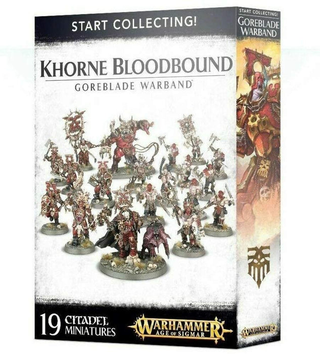 Warhammer Age Of Sigmar Start Collecting! Khorne Bloodbound Goreblade Warband (70-81) - Pastime Sports & Games