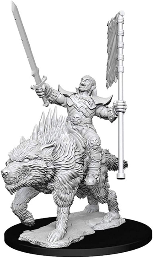 Pathfinder Battles Deep Cuts Orc On Dire Wolf W7 (73547)