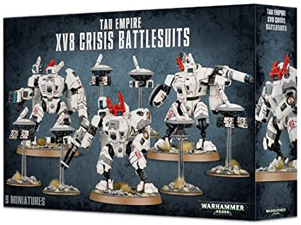 Warhammer 40,000 Tau Empire XV8 Crisis Battlesuits (56-07) - Pastime Sports & Games