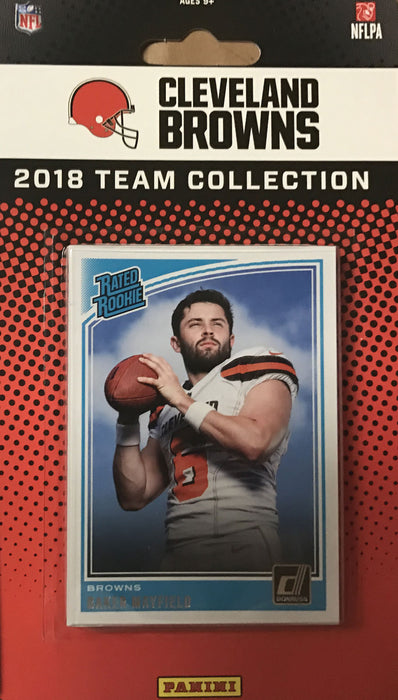 2018 Cleveland Browns Donruss Football Team Set - Pastime Sports & Games