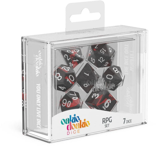 Oakie Doakie 7pc RPG Dice Set Enclave Ruby - Pastime Sports & Games