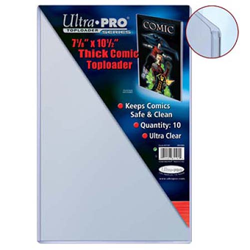 "Ultra Pro 7 1/8"" X 10 1/2"" Thick Comic Toploader - Pastime Sports & Games"