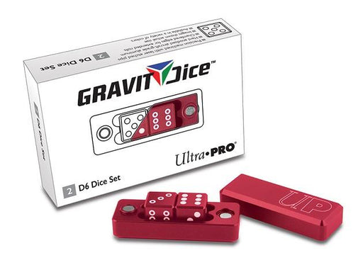 Ultra Pro 2pc Gravity Dice Red - Pastime Sports & Games
