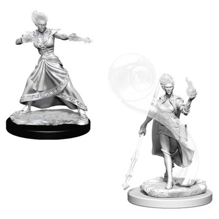 D&D Nolzur's Marvelous Miniatures Fire Genasi Female Wizard - Pastime Sports & Games