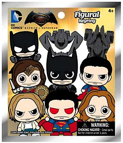 DC 3D Figural Keychains Batman Vs. Superman Mini Figure Mystery Pack - Pastime Sports & Games